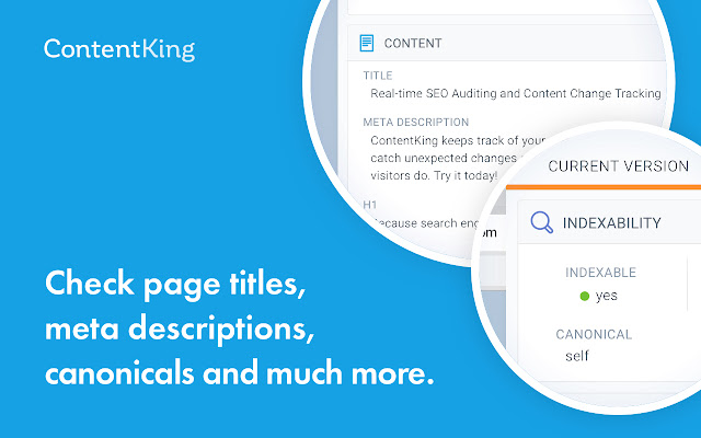 ContentKing: Real-time SEO auditing