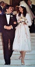 Photo: Gerald and Trisha Posner, wedding day, London