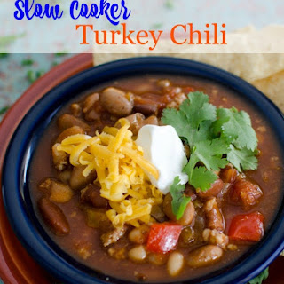 Healthy Turkey Chili {Slow Cooker}