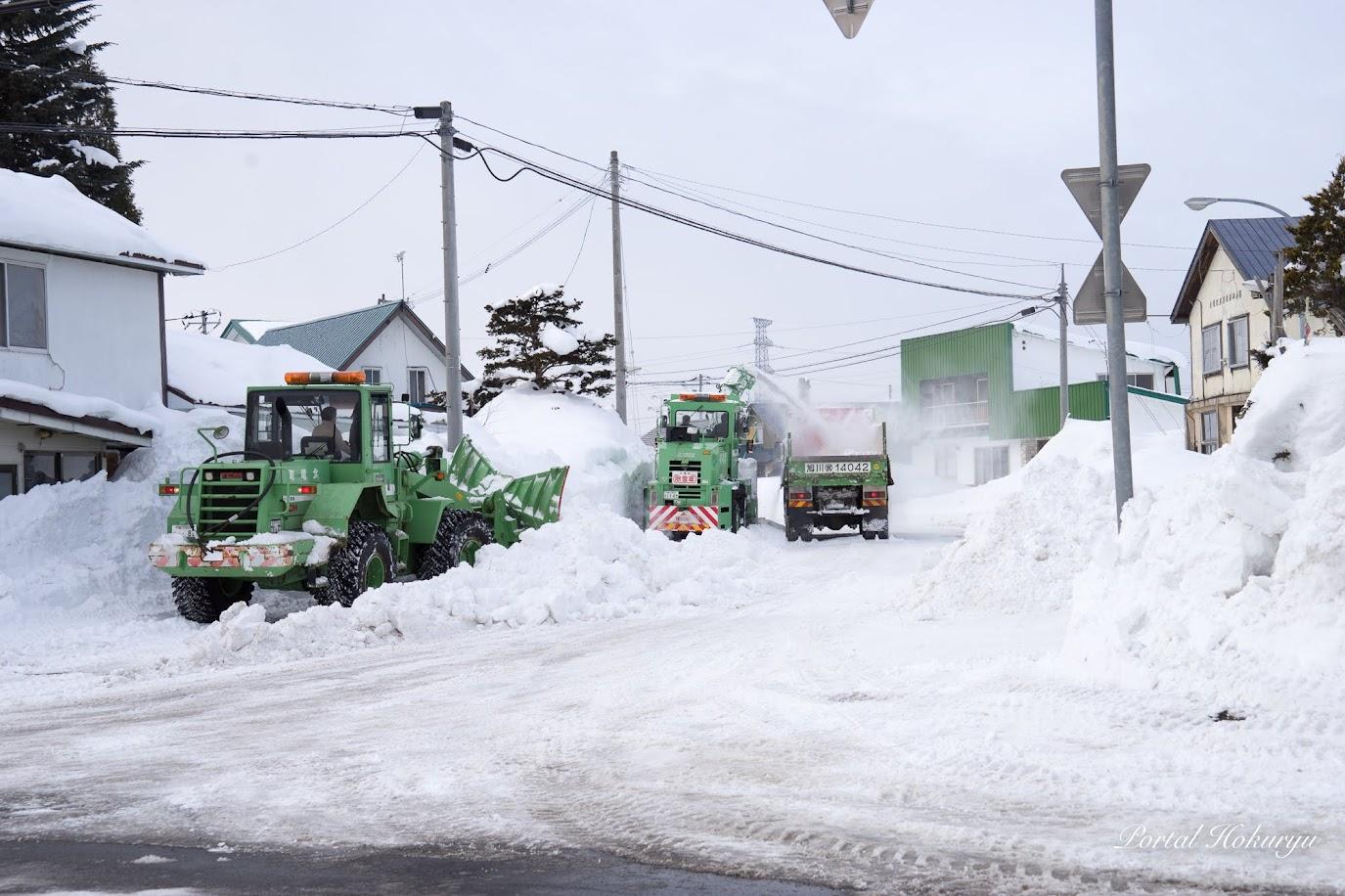 排雪作業@北竜町碧水