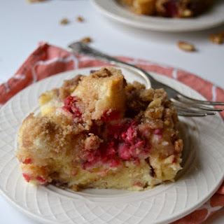 Raspberry Walnut Overnight French Toast Casserole