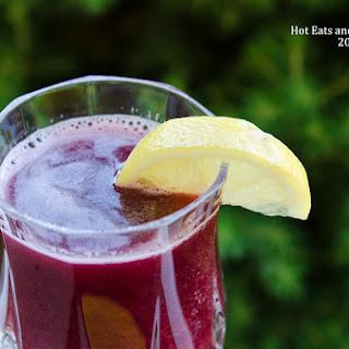 Sparkling Raspberry and Blackberry Lemonade