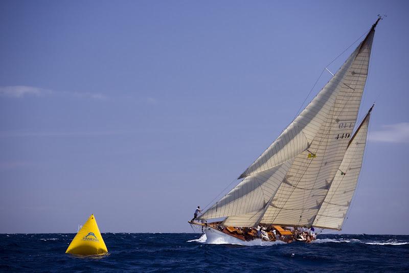 Photo: Eilean sailing in the Antigua Classic Yacht Regatta, Windward Race.