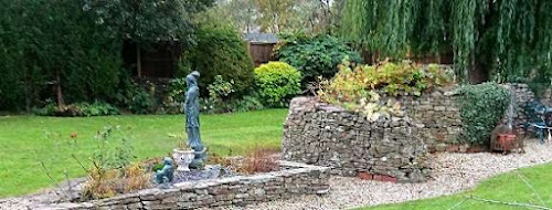 Garden feature made with dry stone wall in Charfield, Gloucestershire