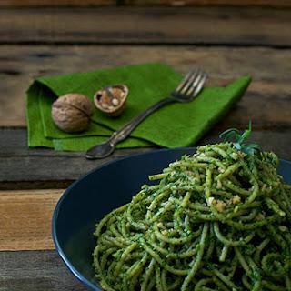 Kale Pesto with Tarragon and Walnuts.