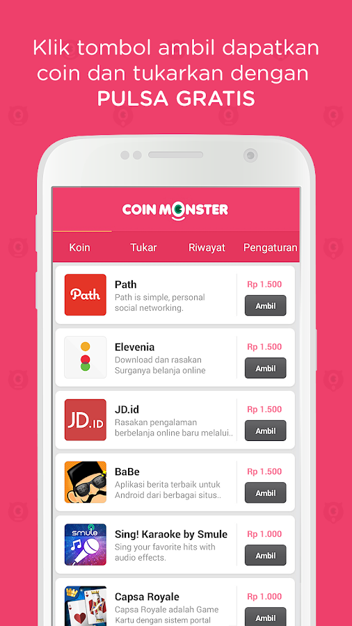 Coin Monster: Isi Pulsa Gratis- screenshot