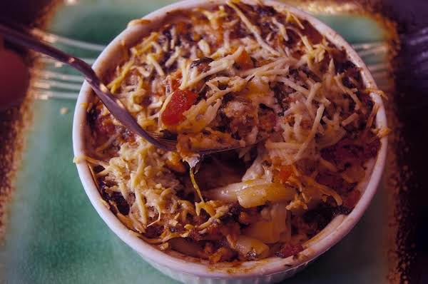 Baked Pasta With Sausage, Three Cheeses, And Spinach Recipe