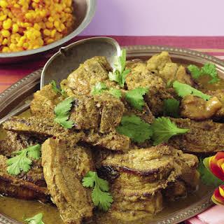 Pork Vindaloo with Yellow Dhal.