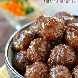 Slow Cooker Cocktail Meatballs