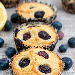 Paleo Lemon Blueberry Muffins.