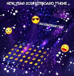 Nový rok 2018 Téma klávesnice - náhled