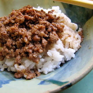 Taiwanese Meat Sauce With Rice (Lu Rou Fan).