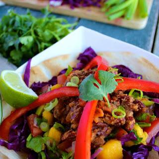 Purple Burrito Bowl with Avocado Mango Salsa