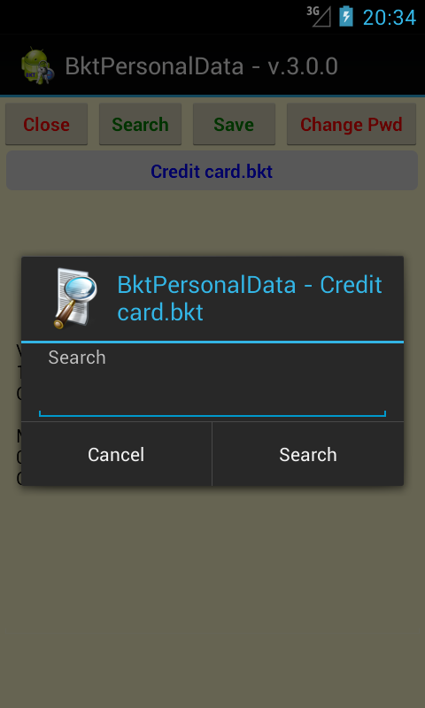 BktPersonalData- screenshot