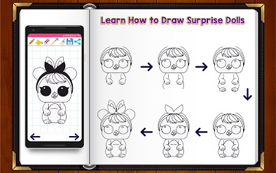 Learn How to Draw Cute Surprise Dolls APK screenshot thumbnail 4