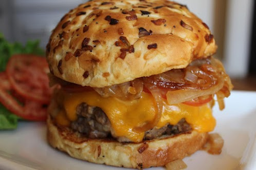 3 Cheese Stuffed Ranch Burgers