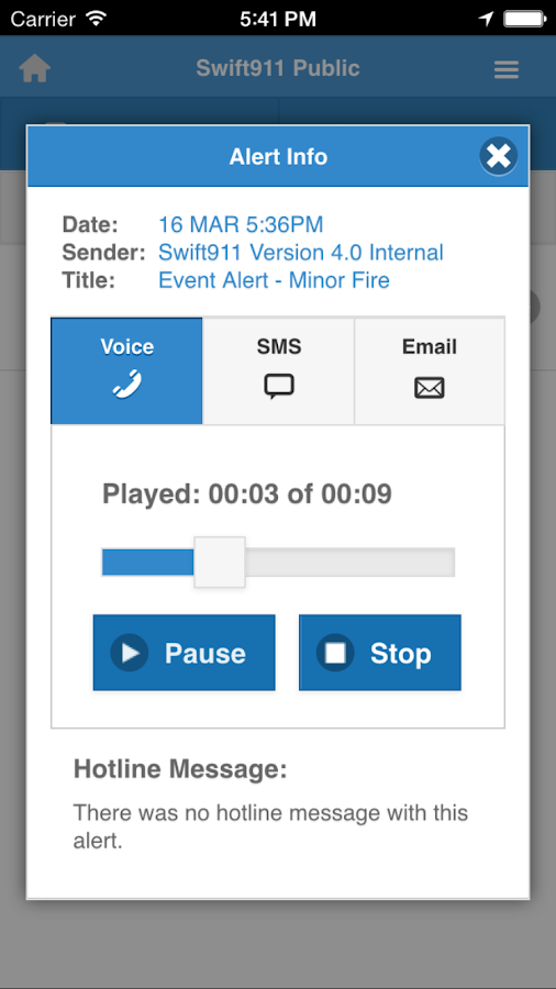 Swift911 Public- screenshot