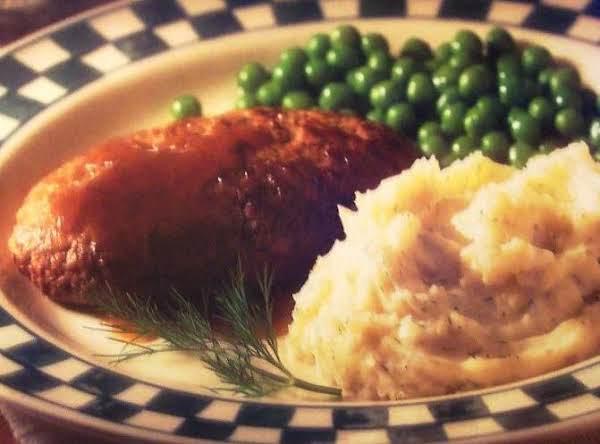Salisbury Steak W/dill Smashed Taters! Recipe