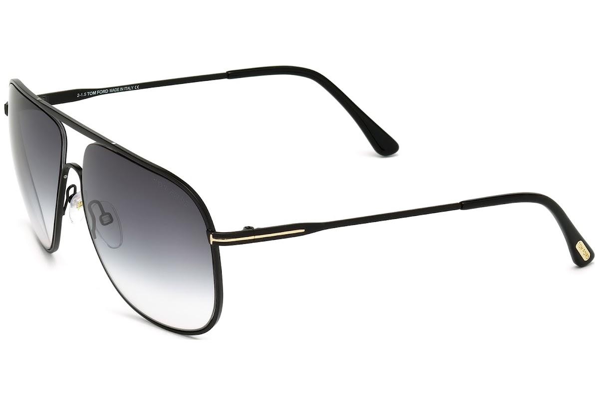 37bc84ef76 Sunglasses Tom Ford Dominic FT0451 C60 02B (matte black   gradient smoke)