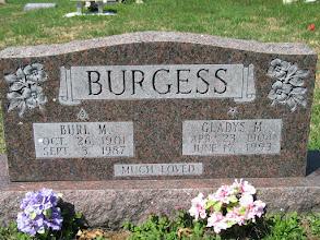 Photo: Burgess, Burl M. and Gladys M.
