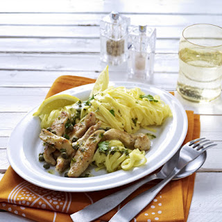Tagliatelle with Chicken and Capers