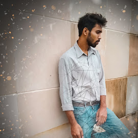 yogesh  by Pranawa Kumar - Digital Art People ( dark, fire, model, internet, yogesh )