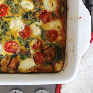 Roast Vegetable Frittata with Goats Cheese