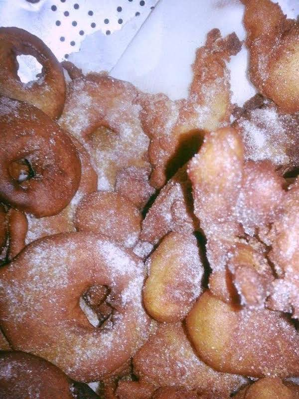 Rings And Chunks Coated In Rodelle's Vanilla Sugar.