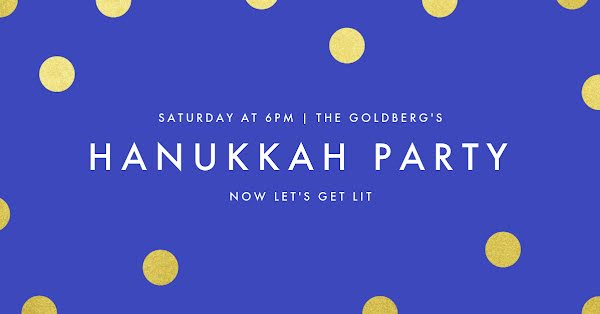 Hanukkah Party - Hanukkah Template