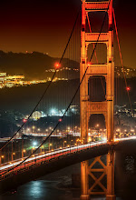 Photo: San Francisco Golden Gate by Night  I'd had a very long day up at the TWIT studios with +Leo Laporte and gang, where I recorded TWIT Photo ( TWiT Photo 45: Trey Ratcliff ) and MacBreak Weekly recently. After all that, I drove down south to find a place in Sausalito for the night with Tom. We planned on waking up early the next morning for photos. Since we were so close, we decided to take a small hike up the trail near there to see the bridge in the evening... and that is when I grabbed this shot.
