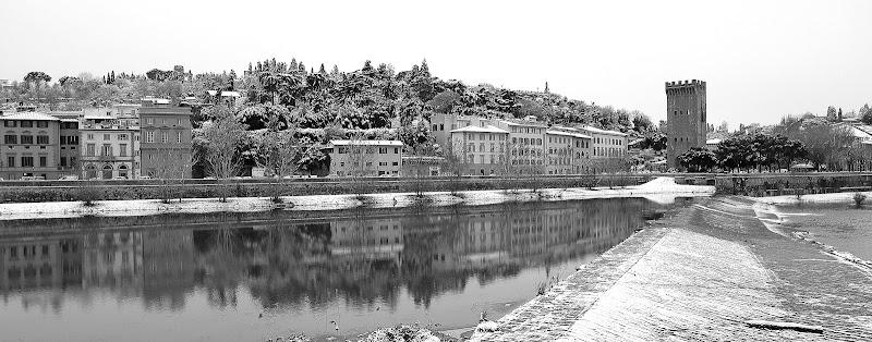 Firenze dopo una spruzzata di neve nel 2009 di alessandro54