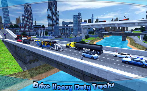 Heavy Machinery Transporter Truck Simulator 1 screenshots 3
