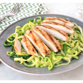 Hungry Girl's Buttery Zucchini Noodles with Chicken.