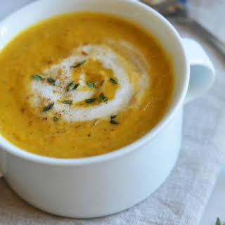 Spicy Pumpkin Leek Soup.