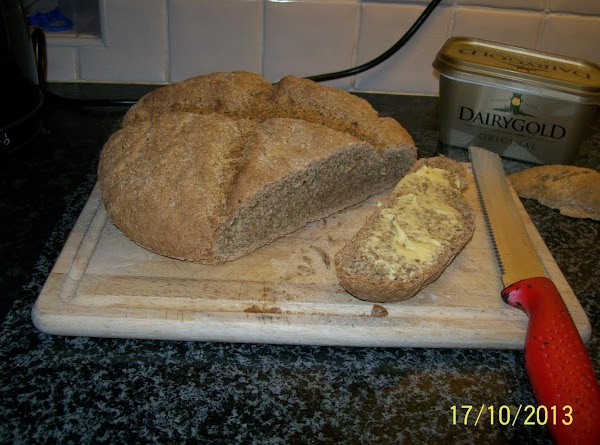 NOTE= You can use cow's milk if wish, but may produce a lighter crust...