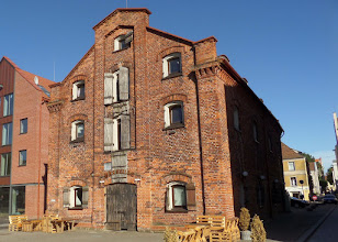 Photo: Klaipeda is at the mouth of the Danė River, where it flows into the Baltic Sea.  Sixty-five cruise ships will dock here this year.  Here is an old warehouse.