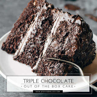Triple Chocolate Out of the Box Cake.