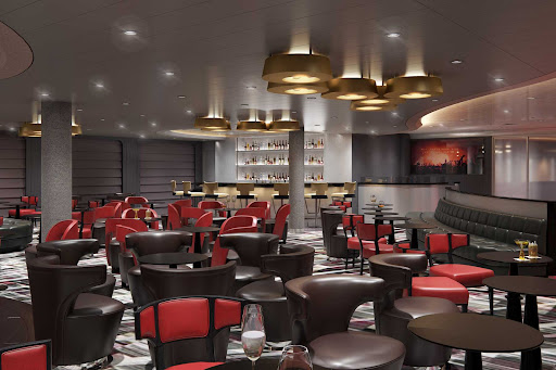 Let loose at the Rolling Stone Rock Room on Holland America's Rotterdam.