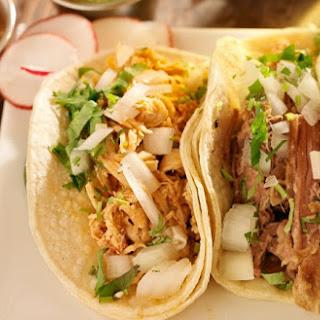 Shredded Chicken Street Tacos.