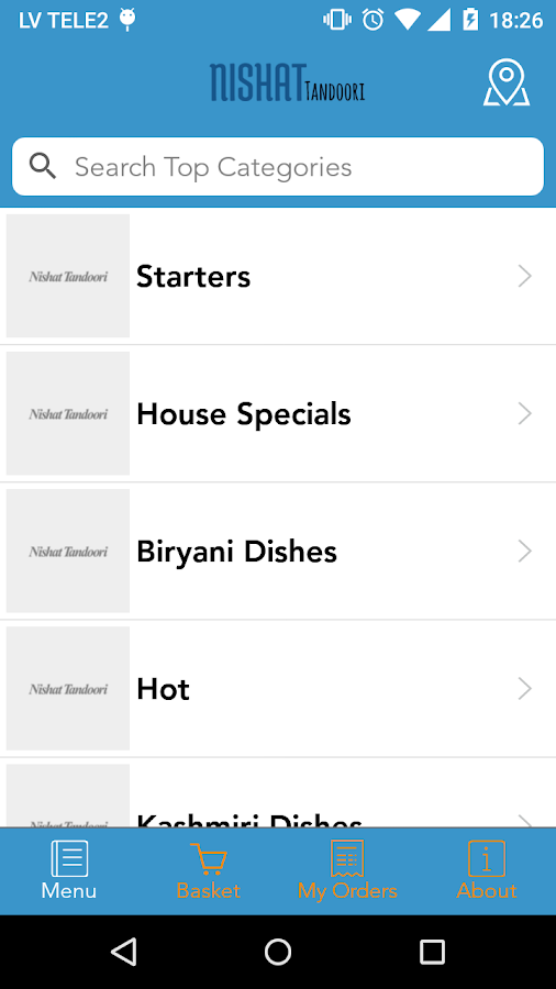 Nishat Tandoori Ordering App- screenshot