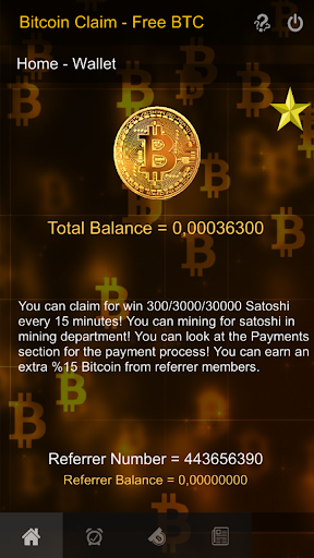 Freebitcoin satoshi, Account Options