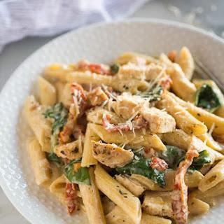 Instant Pot Tuscan Chicken Pasta.