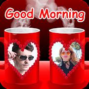 Coffee Cup Dual Photo Frame