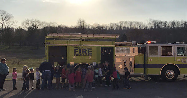 West Knox Fire Department visits Lynn Camp Elementary - March 14, 2019