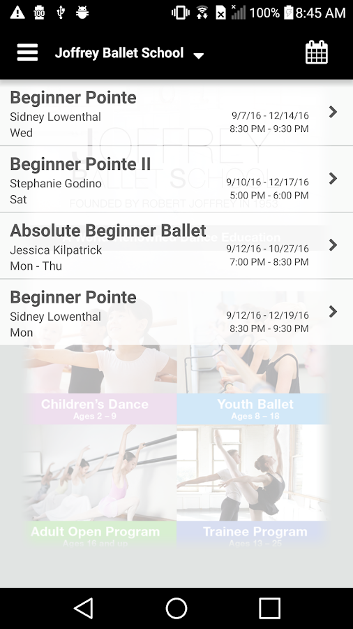 Joffrey Ballet School- screenshot