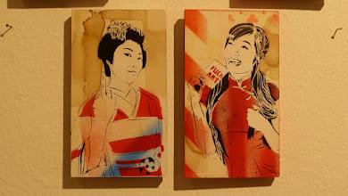 Photo: Galerie 30Works; Sushi Connection; Solo Show MITTENIMWALD; Little Geisha Misaki & Little Chinagirl