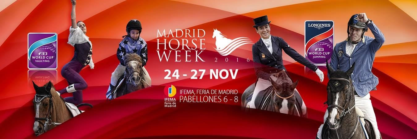 madrid horse week 2016 cartel logo