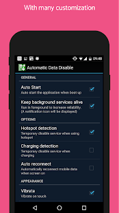 [ROOT] Automatic Data Disable +Widget Screenshot