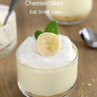No-Bake Banana Cream Cheesecakes Recipe