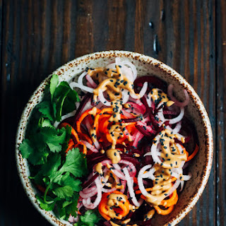 Spicy Root Vegetable Noodle Bowl